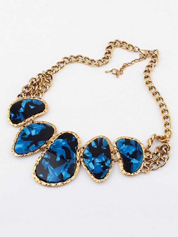 Occident Retro Hyperbolic Colored stones New Stylish Necklace