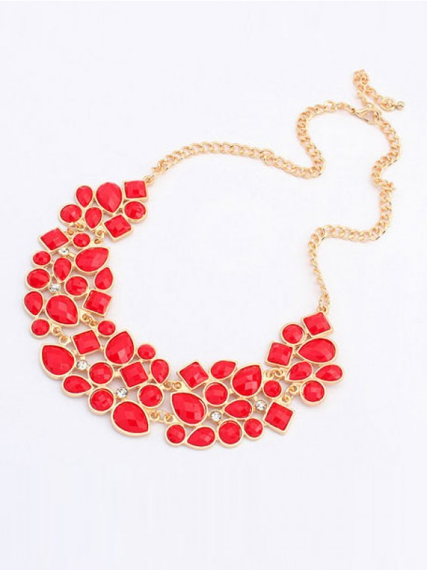 Occident Retro Luxurious Geometry Stitching Stylish all-match Necklace