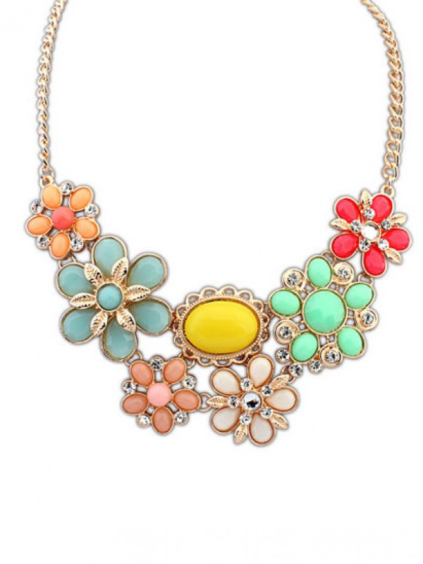 Occident Bohemia Style Big Flower Necklace