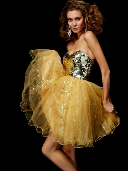 Princess Sleeveless Sweetheart Tulle Short Cocktail/Homecoming Dresses