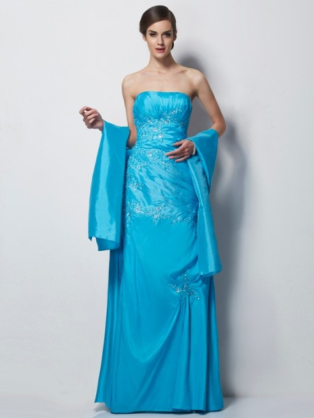 A-Line/Princess Sweetheart Taffeta Floor-Length Mother of the Bride Dresses with Applique