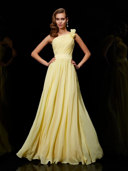 Princess Chiffon One-Shoulder Bridesmaid Dresses