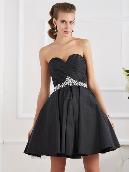 A-Line/Princess Short/Mini Sweetheart Sleeveless Homecoming/Cocktail Dresses