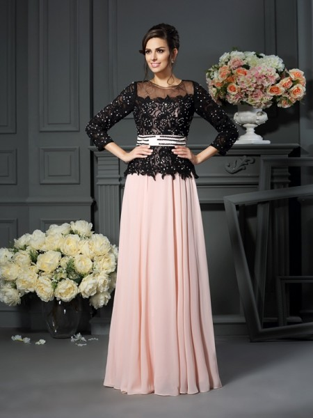 A-Line/Princess Sleeveless Sweetheart Floor-Length Chiffon Mother of the Bride Dresses