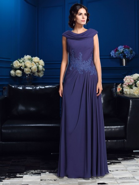 A-Line/Princess Sleeveless Floor-Length Chiffon Mother Of The Bride Dress