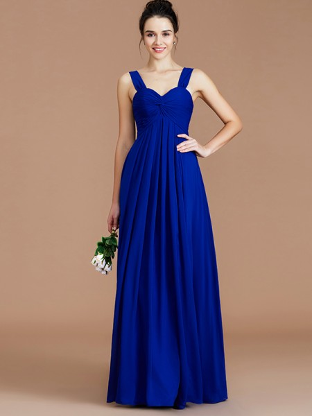 Empire Sweetheart Floor-Length Chiffon Bridesmaid Dresses with Ruched