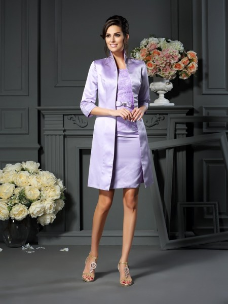 Elegant Satin 3/4 Sleeves Special Occasion Wrap
