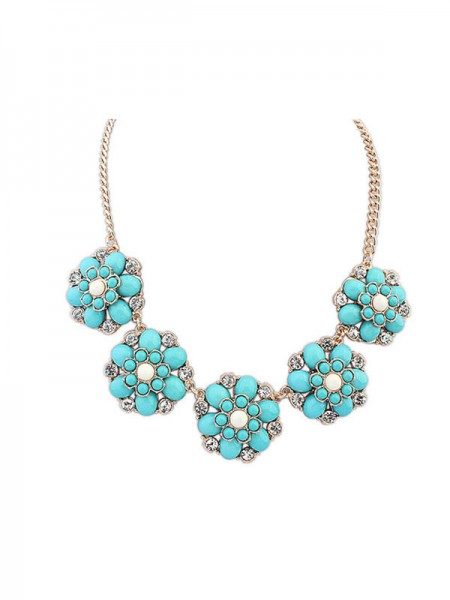 Occident New Sweet Flowers Simple Necklace