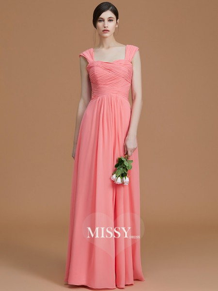 A-Line/Princess Sweetheart Floor-Length Chiffon Bridesmaid Dresses with Ruched