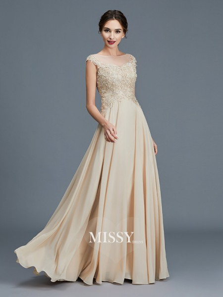 A-Line/Princess Scoop Chiffon Floor-Length Mother of the Bride Dresses with Ruffles
