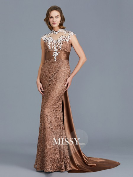 Trumpet/Mermaid Scoop Lace Floor-Length Mother of the Bride Dresses with Beading