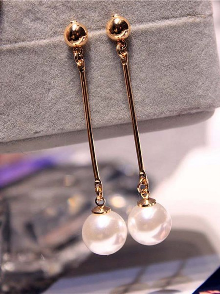 Latest Design Korean Imitation Pearl Earrings