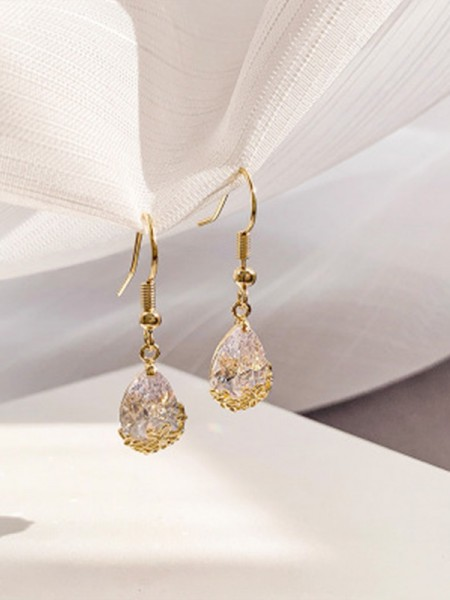 Latest Design Rhinestone Water Drop Earrings