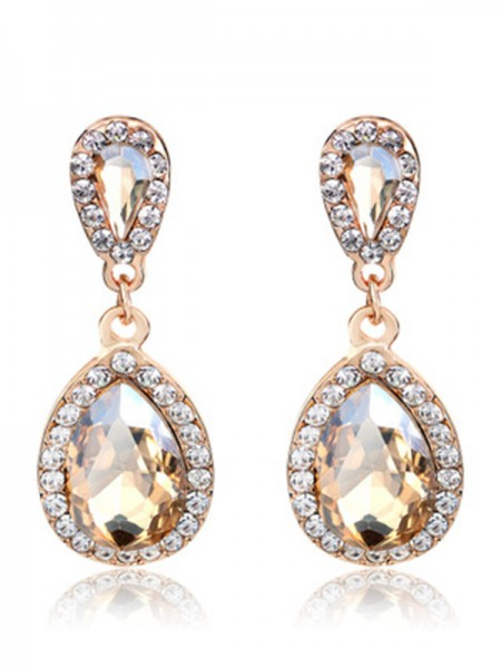 Latest Design Vintage Alloy Rhinestone Earrings