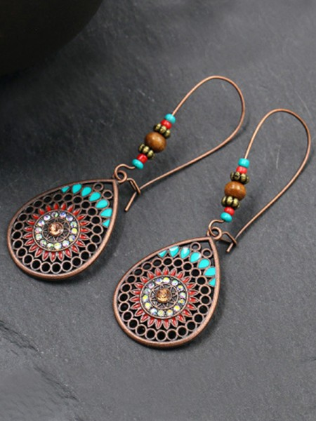 Latest Design Bohemia Style Alloy Water Drop Earrings
