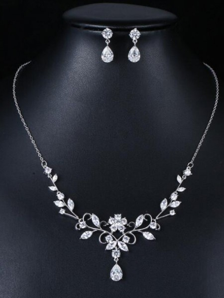 Occident Zircon Wedding Jewelry Set
