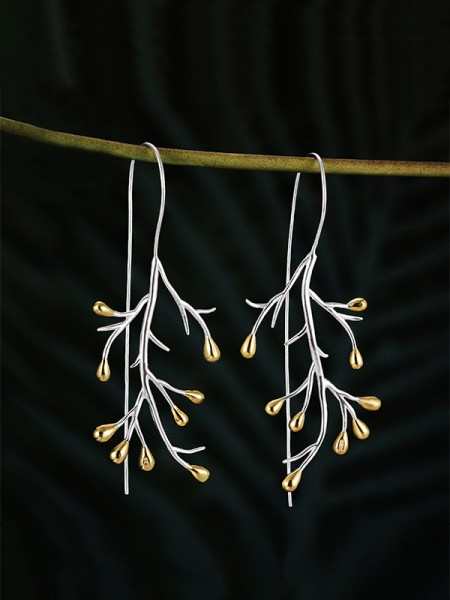 Latest Design Tree Sterling Silver Earrings