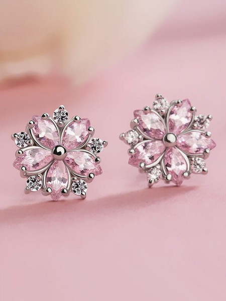 Latest Design Silver Snowflake Hot Sale Earrings
