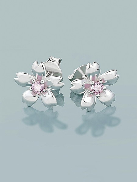 Latest Design Sterling Silver Flowers Earrings