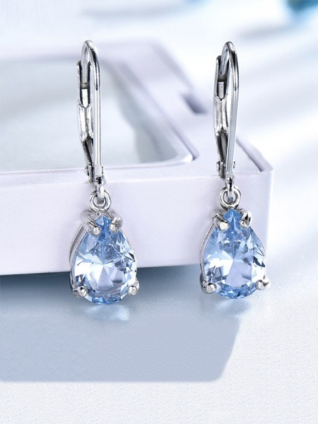 Latest Design Gemstone Silver Earrings