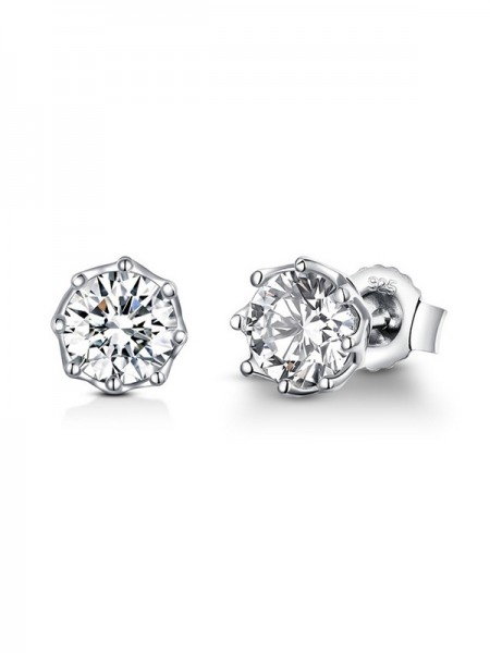 Latest Design Silver Cubic Zirconia Earrings