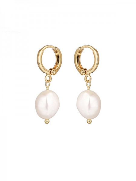 Latest Design Pearl Copper Earrings