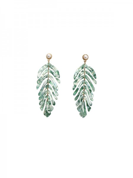 Latest Design Alloy Leaf Hot Sale Earrings