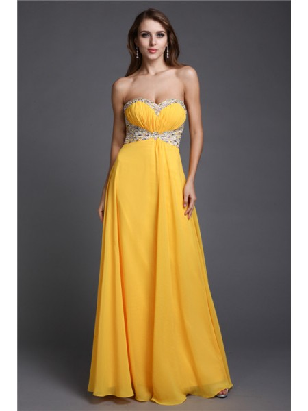 A-Line/Princess Sweetheart Chiffon Dress