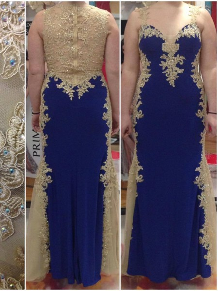 Sheath/Column Straps Floor-Length Elastic Woven Satin Plus Size Dresses with Applique
