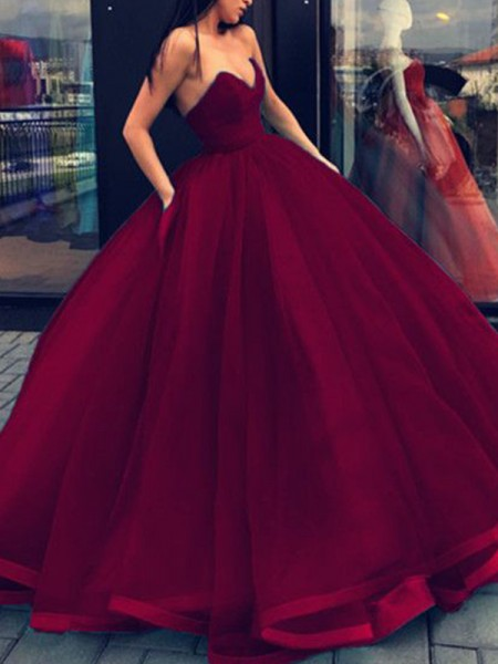 Ball Gown Sweetheart Organza Floor-Length Dresses